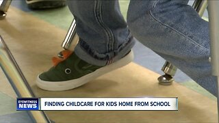 Finding childcare for kids home from school