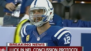 Colts QB Andrew Luck in concussion protocol ahead of Thursday's game against Pittsburgh - Video