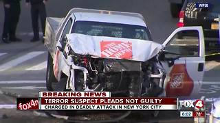 New York terror suspect pleased not guilty - Video