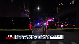 Greektown shootings raise concerns about safety in public places - Video