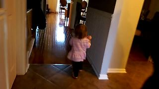 Toddler Has Precious Routine Every Time Dad Comes Home - Video