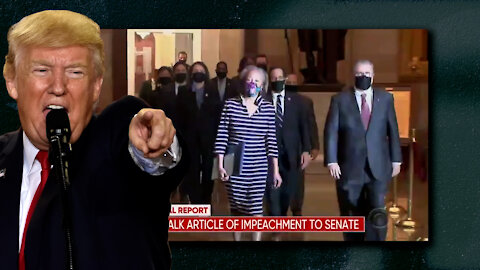 House of Representatives Transmit Articles Of Impeachment to Senate, Film Dramatic Walk For Show