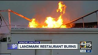 Landmark family restaurant gone after devastating fire - Video