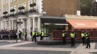 Heavy Police Presence Seen in South Kensington After Car 'Mounts Pavement' - Video