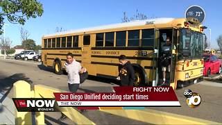 San Diego Unified to decide on start times - Video