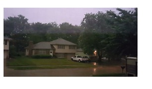 Lightning Illuminates Omaha Sky as Storms Lash Parts of Nebraska - Video