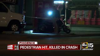 Pedestrian killed, motorcyclist injured in north Phoenix crash - Video