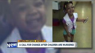 Protestors demand answers, accountability from CFS after 4-year-old Euclid girl's murder - Video