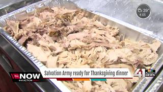 Salvation Army prepares to serve Thanksgiving dinner - Video