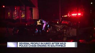 Wild police chase ends in Southfield - Video