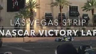 NASCAR Victory Lap on the Las Vegas Strip | NASCAR Champions Week - Video