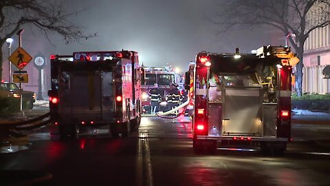 Firefighters save adjacent building after large fire in downtown Elyria
