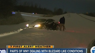 Parts of WNY dealing with blizzard-like conditions - Video