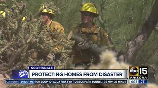 Wildland firefighters helping protect Valley homes - Video