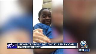 Eight-year-old hit and killed by car - Video