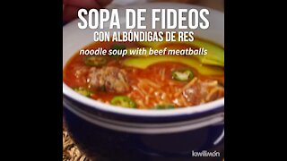 Noodle Soup with Beef Meatballs