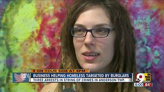 Burglars target business that helps the homeless - Video