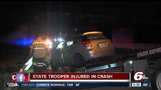 ISP trooper hospitalized after crash on Indy's south side - Video