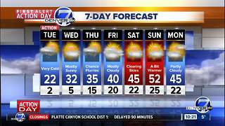 First Alert Action Day: Snow and cold across Colorado! - Video