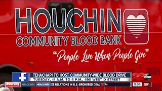 Tehachapi to host community-wide blood drive