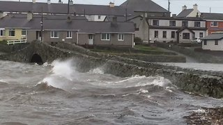 Flooding in Anglesey Village as Storm Diana's Winds Sweep Wales - Video