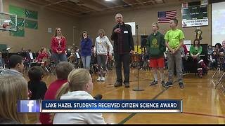 Boise students receive Citizens Science trophy