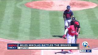 Jupiter native Miles Mikolas battles the Braves