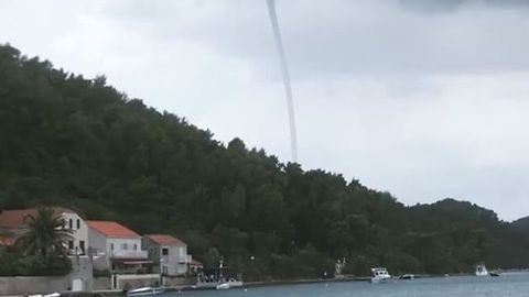 Extreme Weather Hits Croatia's Elaphiti Islands