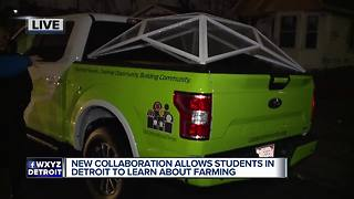 New initiative allows students in Detroit to learn about farming - Video