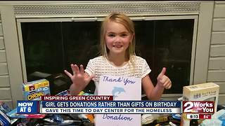 Girl gets donations rather than gifts on birthday - Video