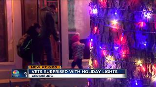 Two local veterans surprised with free holiday Christmas decorations - Video