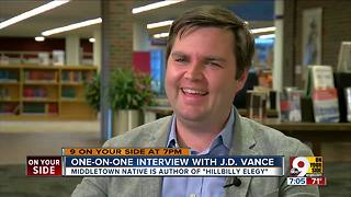 One-on-one with JD Vance, NYT bestselling author of 'Hillbilly Elegy' - Video
