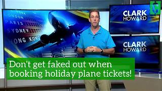 Don't get faked out when booking holiday plane tickets
