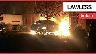 Couple catch arsonists torching their £40,000 Audi on CCTV