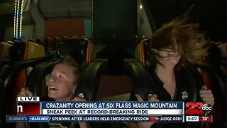 """Cody and Leah test out """"CraZanity"""" ride at Six Flags"""