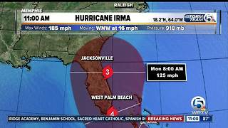 11 a.m. Wednesday Irma update: Track moves toward the east - Video