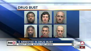 Six people arrested in drug bust