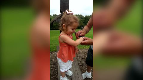 A Toddler Girl VS A Ladybug