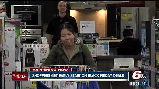 Shoppers get early start on Black Friday deals - Video
