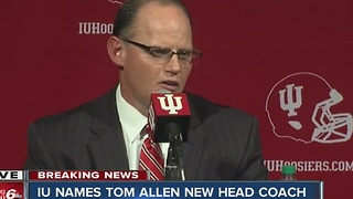 Indiana University head football coach resigns, Tom Allen named new head coach - Video