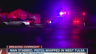 Man stabbed overnight in West Tulsa - Video
