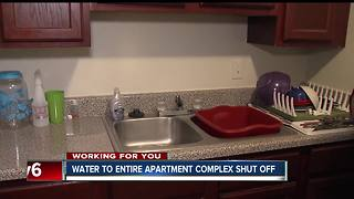 Water shut off at Indy east side apartment complex - Video