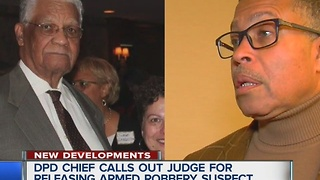 Chief angry at judge for releasing robbery suspect - Video
