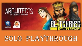 Architects of the West Kingdom Solo Playthrough Renegade Games