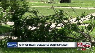 Storm debris pickup in Blair