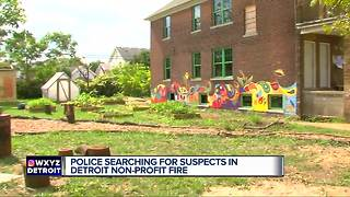 A Detroit non-profit's house set on fire, police suspect arson - Video