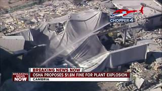 Officials say company should pay $1.8 million for plant explosion - Video