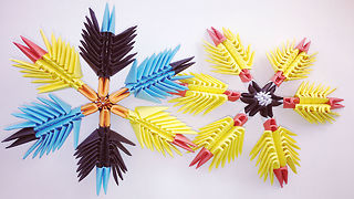 3D origami Snowflakes - How to make Origami Christmas Snowflake  - Video