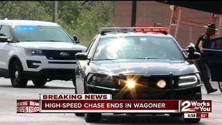 High-Speed chase ends in Wagoner - Video