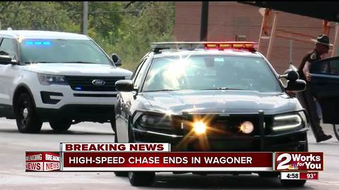 High-Speed chase ends in Wagoner